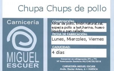 Etiqueta Chupa-Chups de pollo