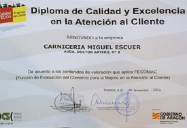 diploma de excelencia
