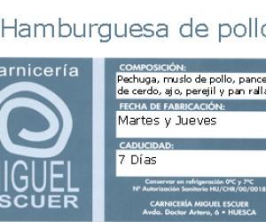 Etiqueta Hamburguesa de Pollo