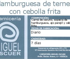 Etiqueta Hamburguesa de Ternera con Cebolla