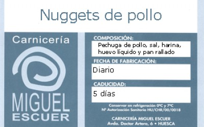 Etiqueta Nuggets de pollo