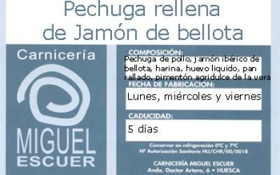 Etiqueta Pechuga rellena de jamón