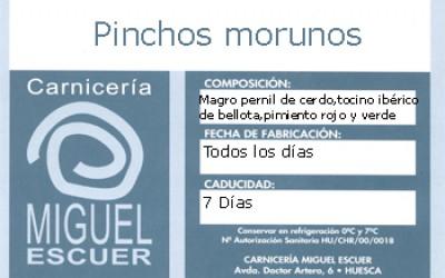 Etiqueta Pincho Moruno