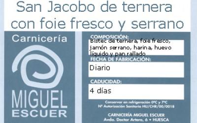 Etiqueta San Jacobo de ternera